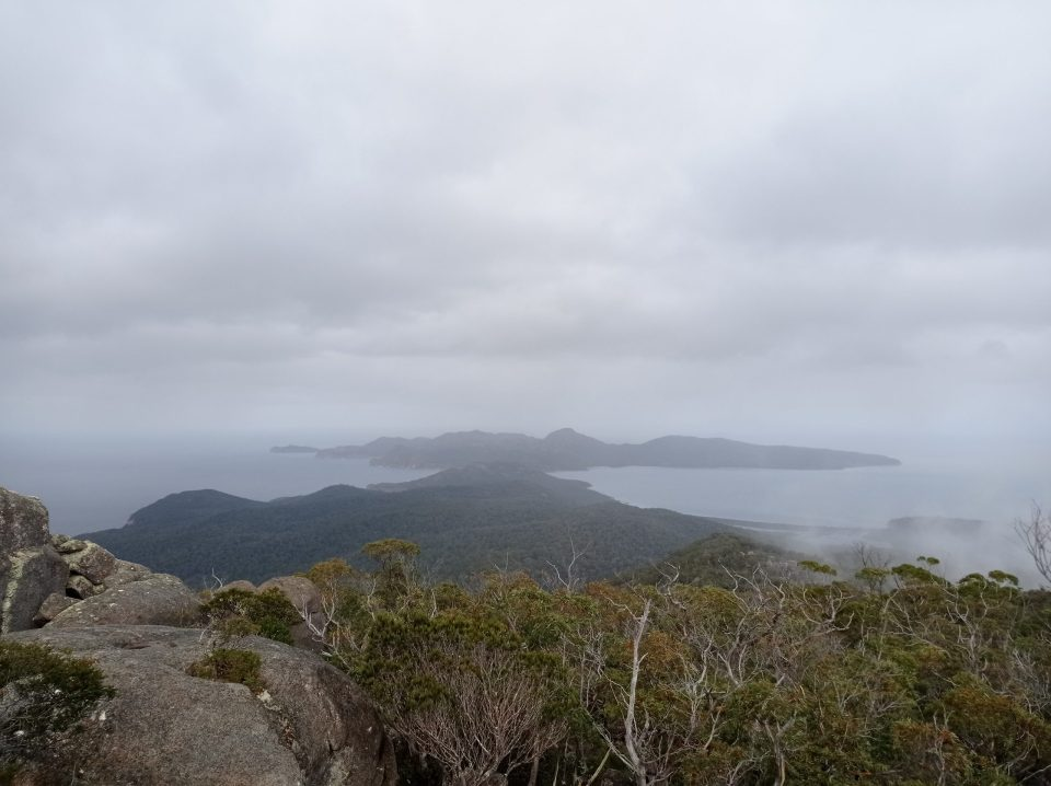 Views of the Freycinet Peninsular from  hiking to the top of Mt. Freycinet, Tasmania