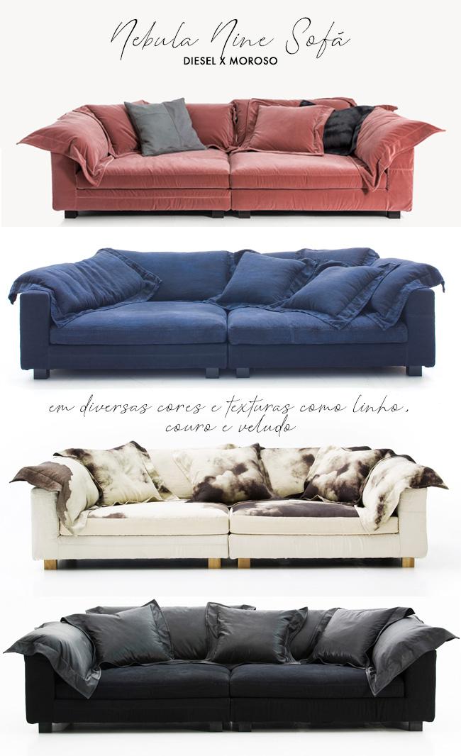 Nebula Nine: o sofá aconchegante - e famoso - da Diesel