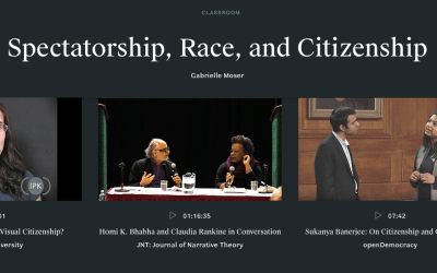 "Classroom on ""Spectatorship, race and citizenship"""
