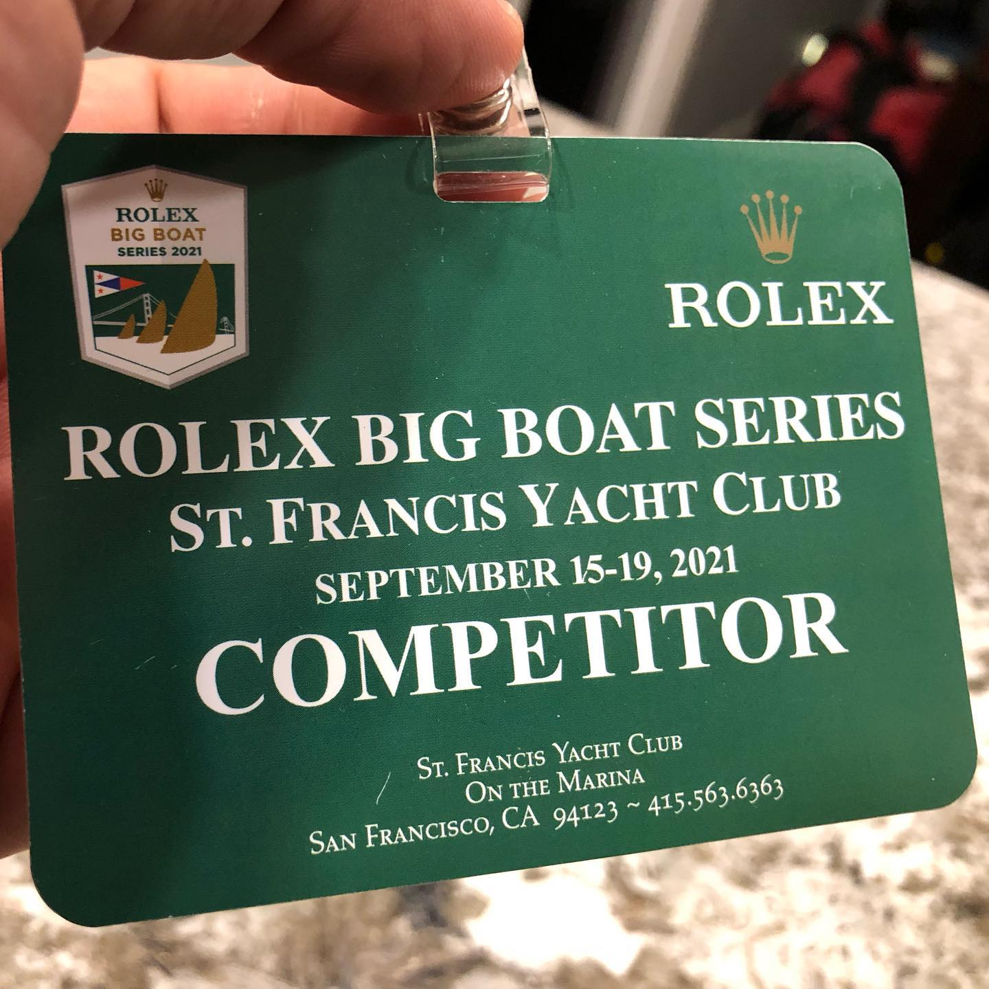 2021 Rolex Big Boat series day 2 on Starballs  retired some old gloves, found a cracked shackle. Thanks to Moni for the spare soft shackle :)
