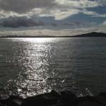 Sunshine reflecting on the Bay