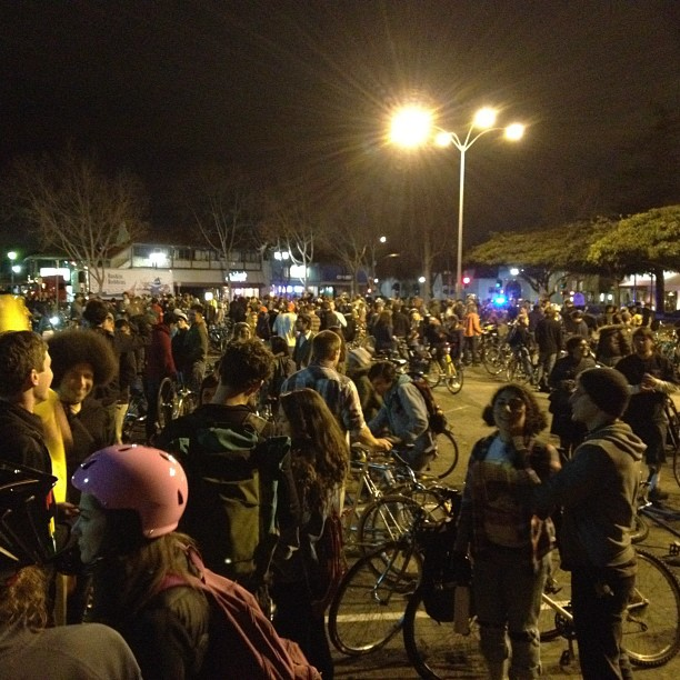 Bike party stop