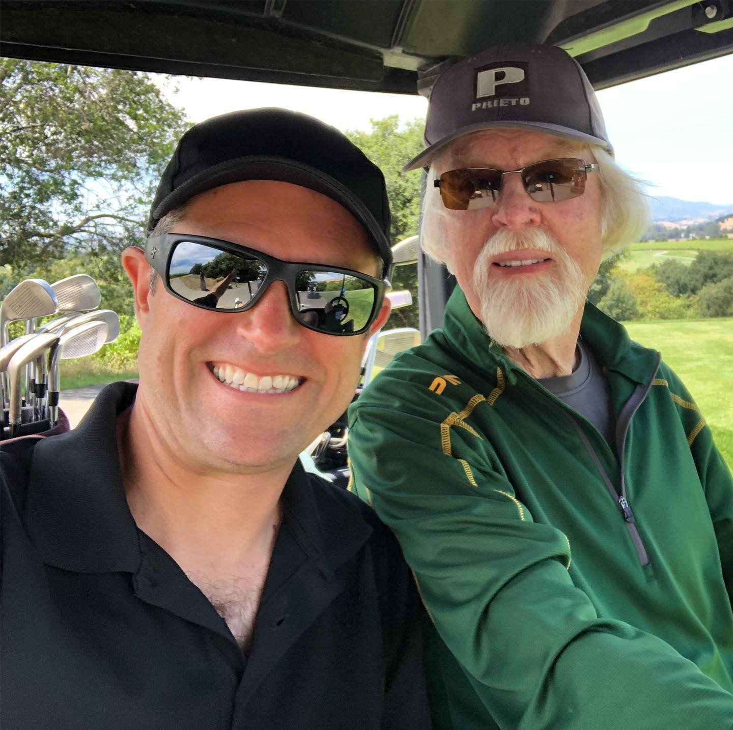 Birthday golf in Napa with uncle Jim, just fantastic :)