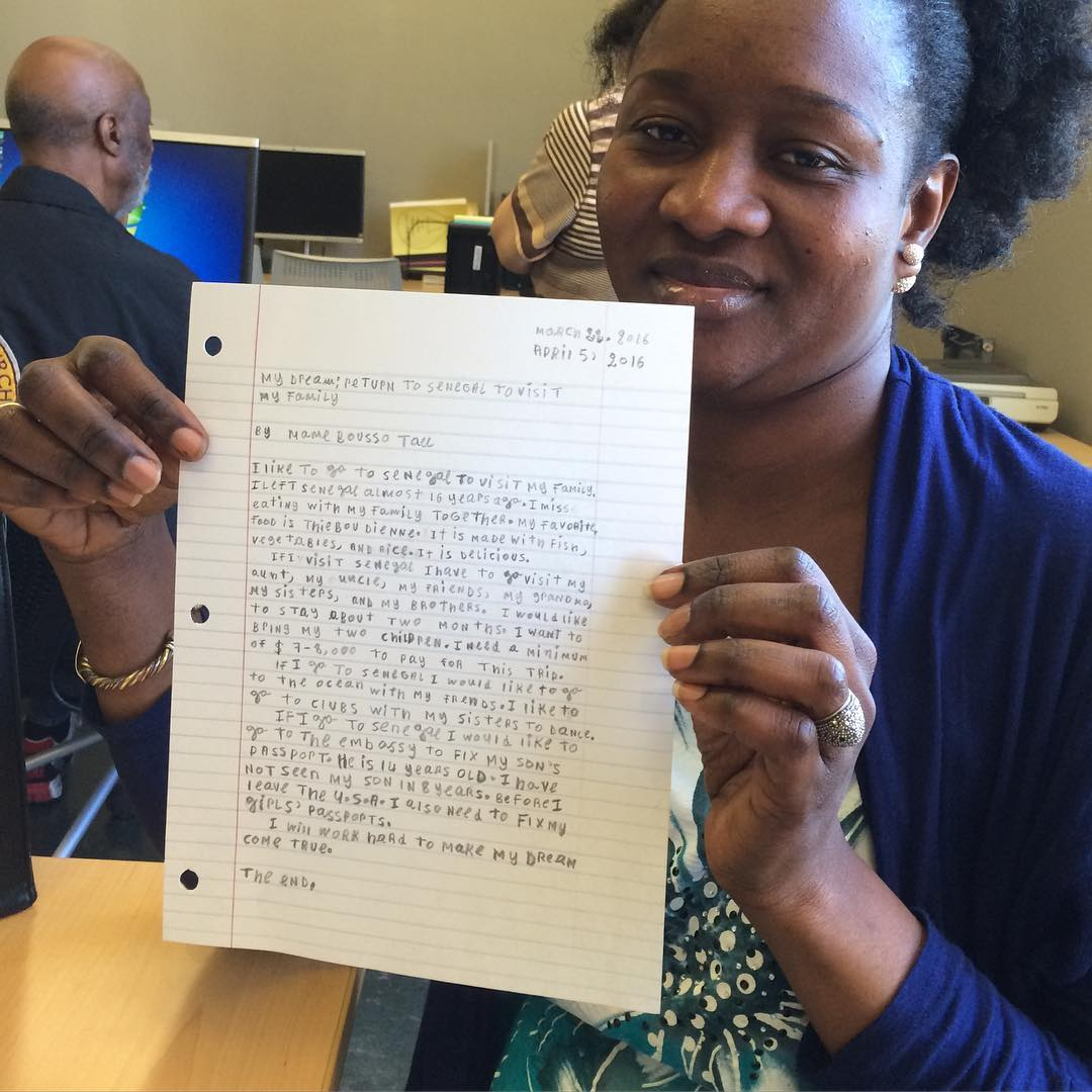 Congratulations to Mame's for the first story she ever wrote.