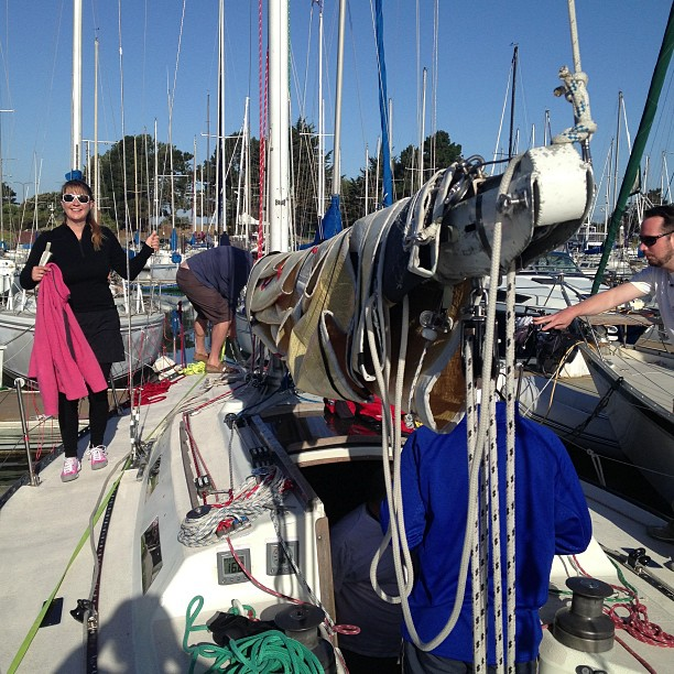Duxbury lightship ocean race today on Ahi