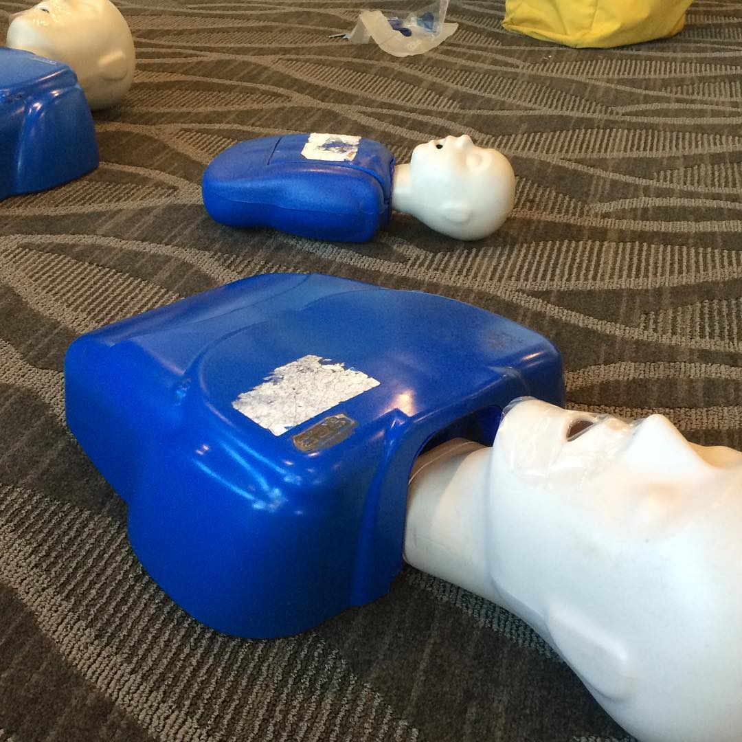 My first CPR class finished! John is an excellent instructor.