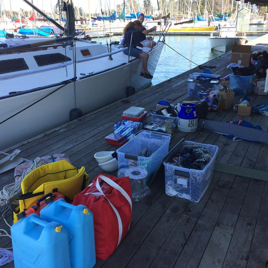Prepping the boat at BYC's guest dock