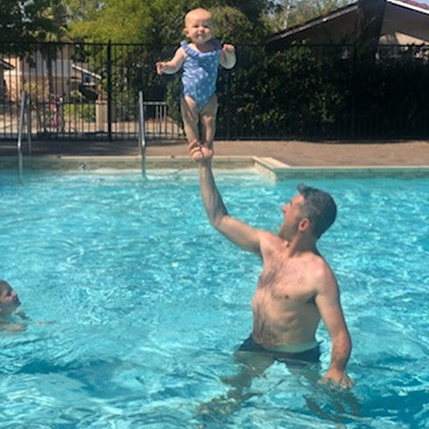 Really fun visit with my sister @naovelo and her kids at the pool this weekend while Amber was doing  OYRA Drakes Bay race. :)