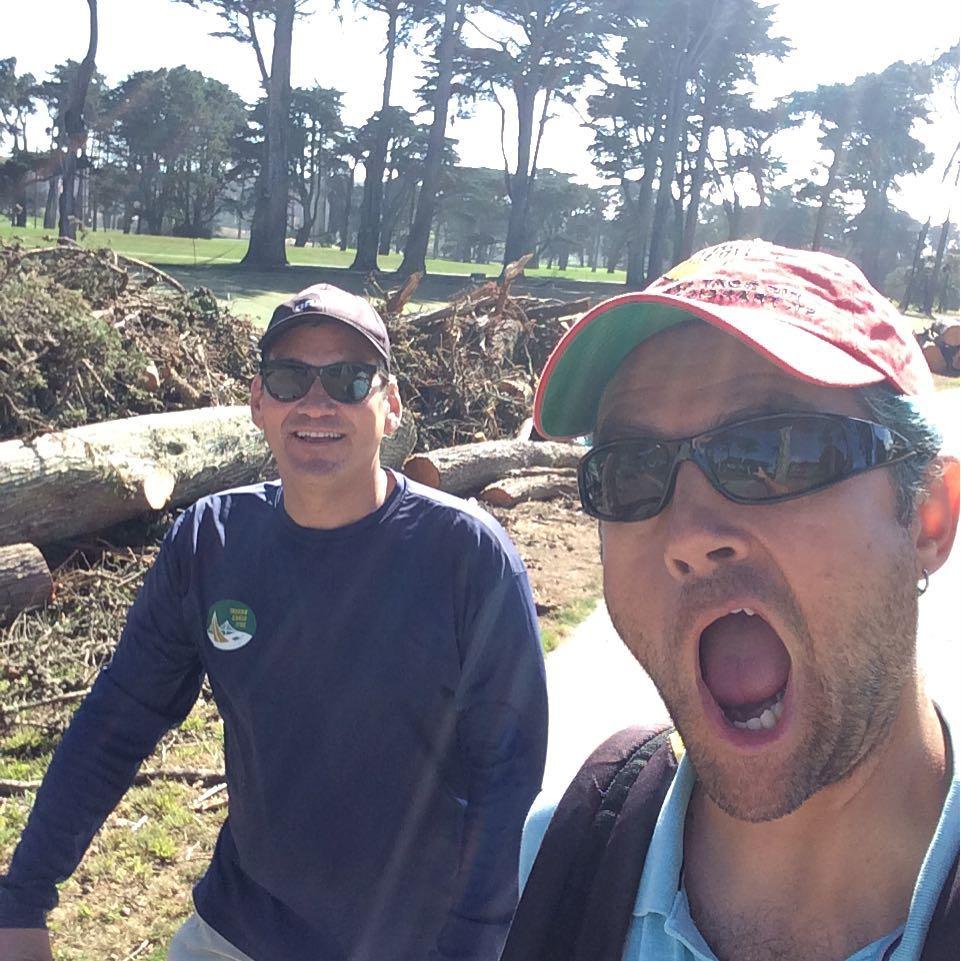Sunday golf with Alex