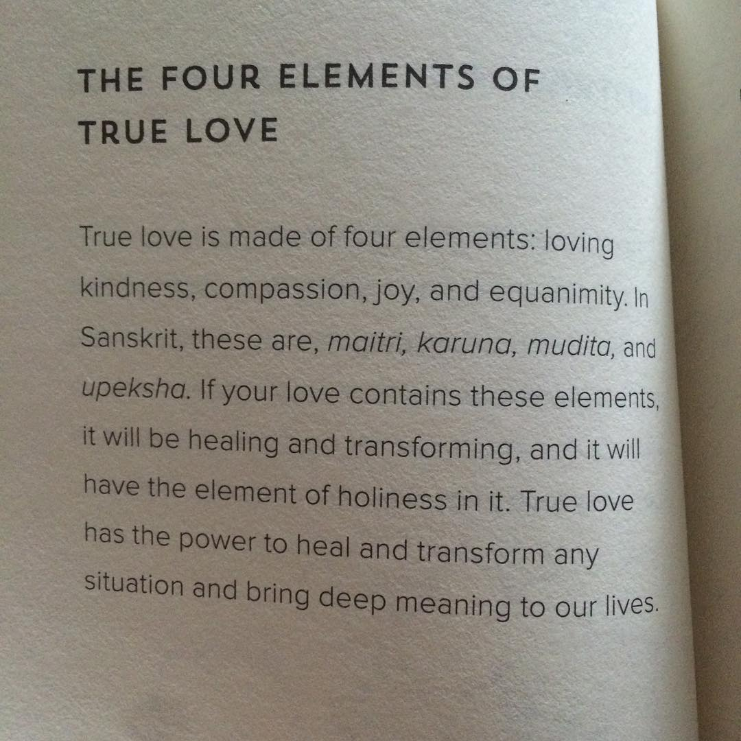 The four elements of true love