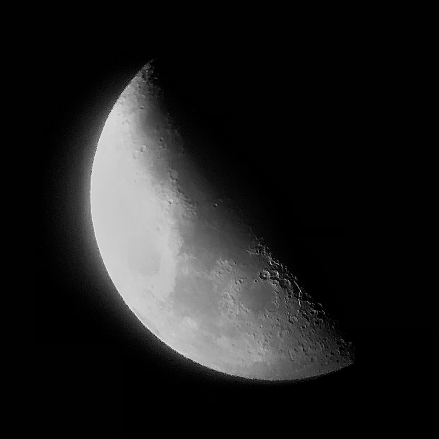 Waxing crescent!
