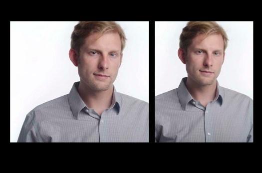 Studio portrait headshot examples