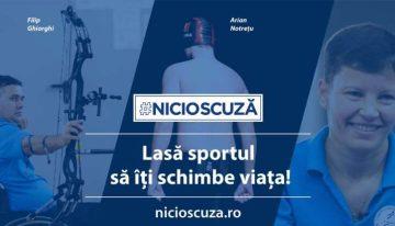 #NICIOSCUZĂ – o campanie foarte faină pentru sportivii paralimpici români
