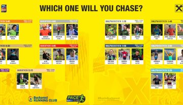 Vă prezint echipa oficială de pacemakeri Raiffeisen Bank Bucharest Marathon 2018!