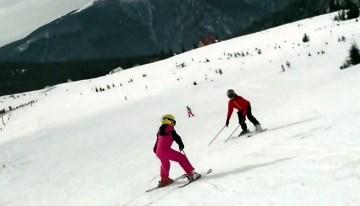 Prima ieșire la schi cu copiii