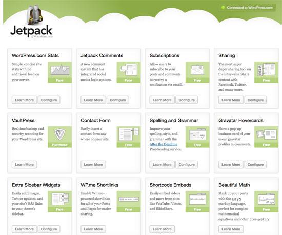 Pluginul Jetpack WordPress