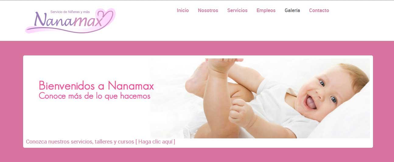 Diseño de logo y web para Nanamax