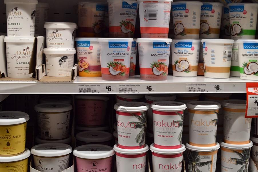 Dairy-free yoghurt