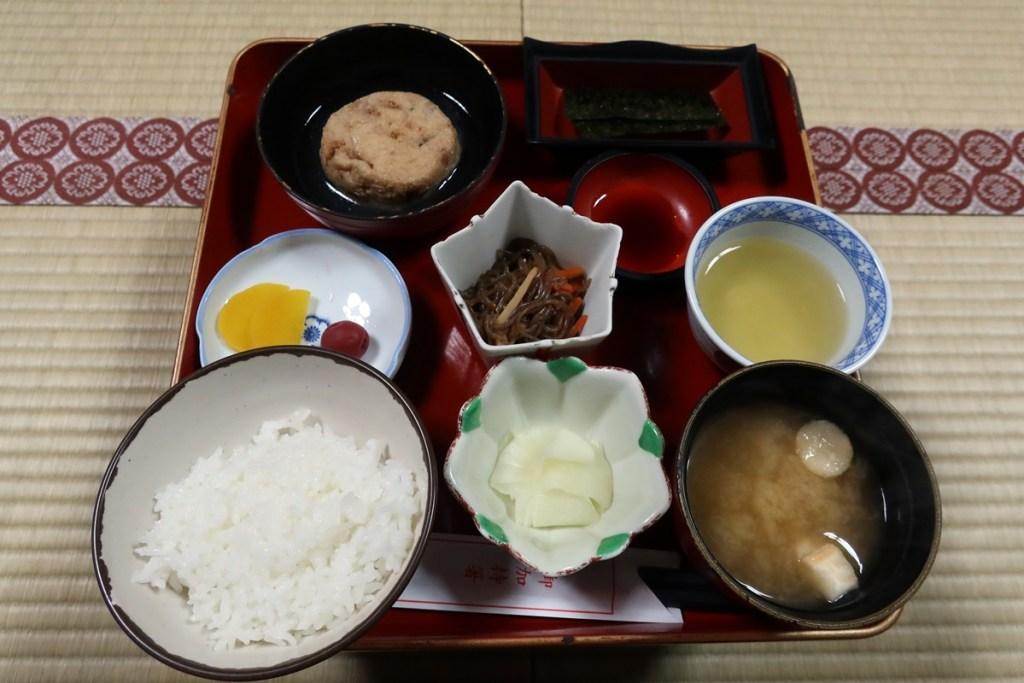 Breakfast in Koyasan