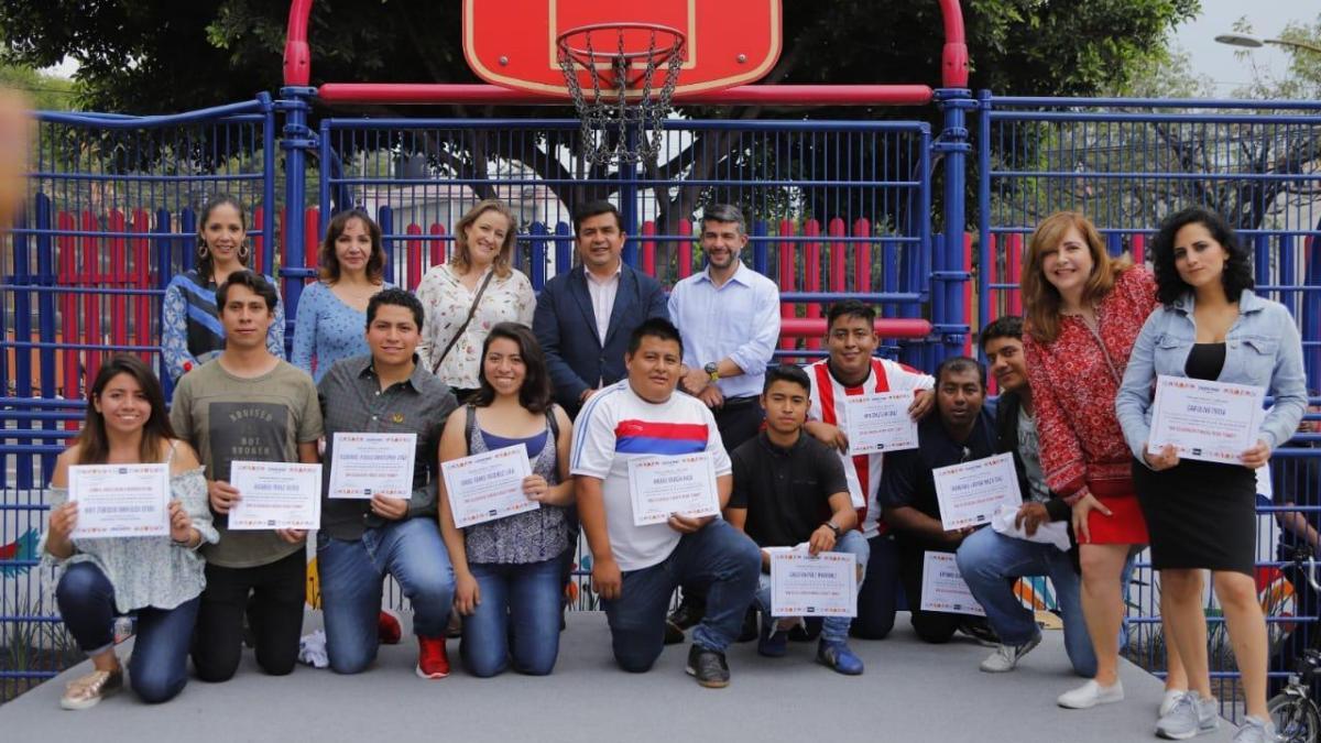 Reinaguran legisladores panistas y autoridades en Miguel Hidalgo módulo deportivo de la colonia Cuauhtémoc Pensil