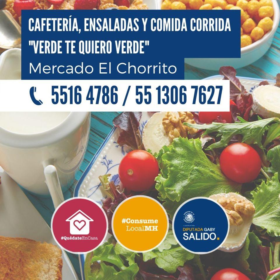 Cafetería, ensaladas y comida corrida «Verde te quiero verde»