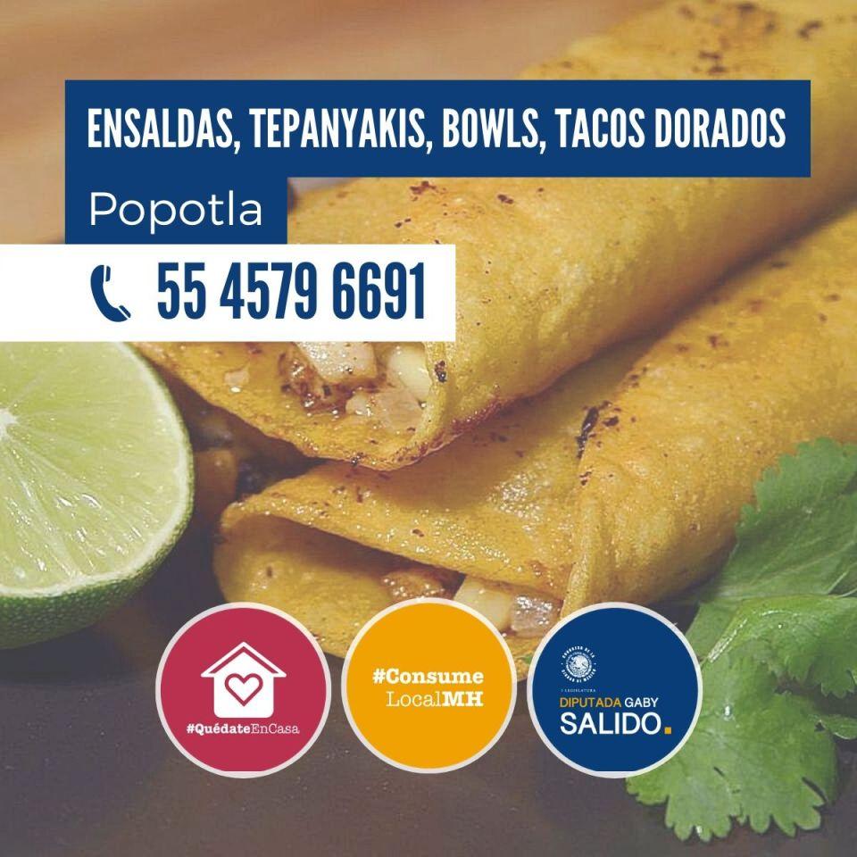 Ensaldas, tepanyakis, bowls, tacos dorados