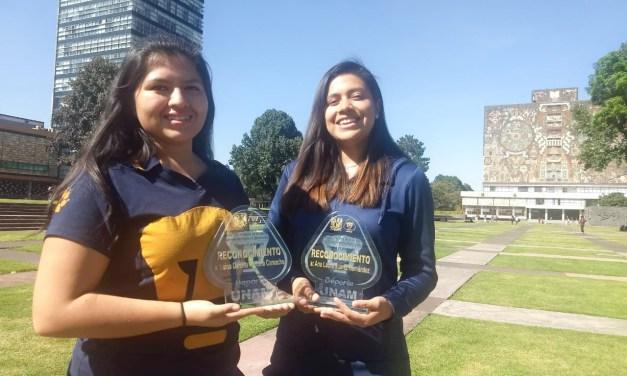Daniela Fortuna y Ana Laura Suárez recibieron el Premio Universitario del Deporte 2019