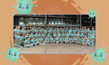El equipo de enfermería en la UTC-19