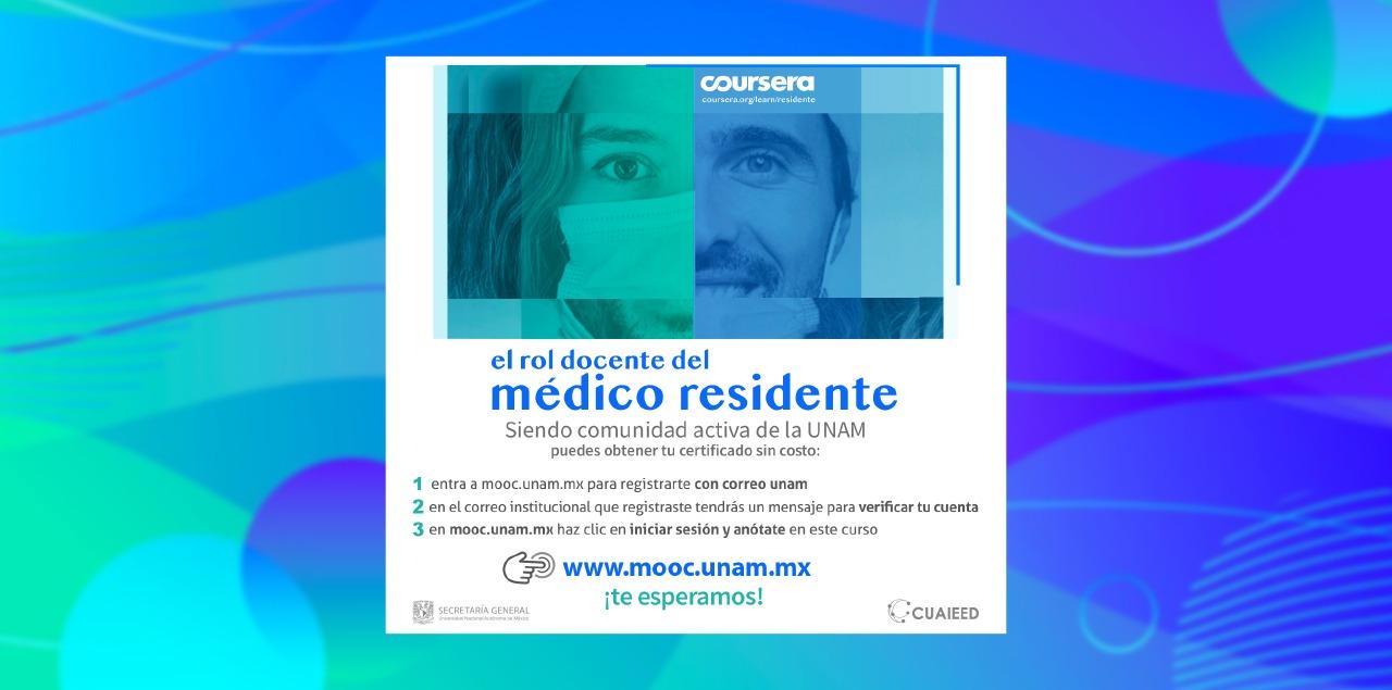 """""""El rol docente del médico residente"""", MOOC innovador y gratuito para la comunidad universitaria"""