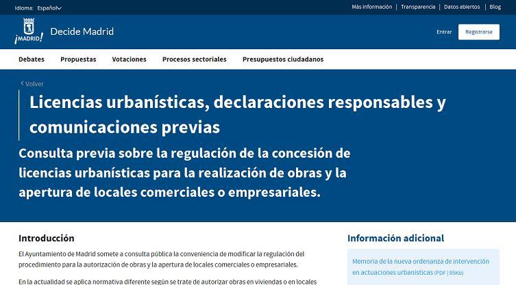 Beautiful El De Madrid Lanza La Primera Consulta Pblica Previa De  Ordenanzas With Licencia Apertura Local Madrid