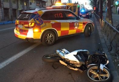 Un motorista de 37 años muere tras sufrir un accidente en la calle Alcalá