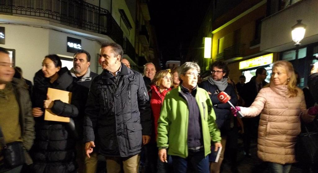 """La dirección del PSOE-M recorre Puente de Vallecas para denunciar """"el abandono que sufre el distrito"""""""