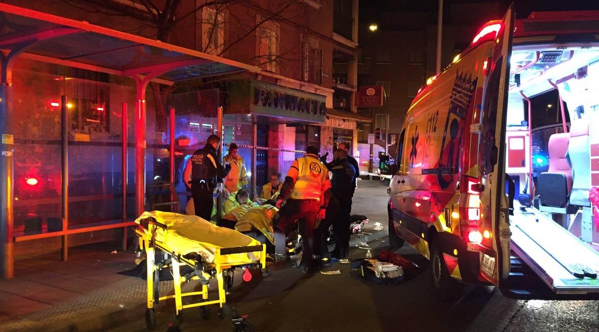 Dos jóvenes heridos muy graves tras una pelea con navajas y machetes en Carabanchel