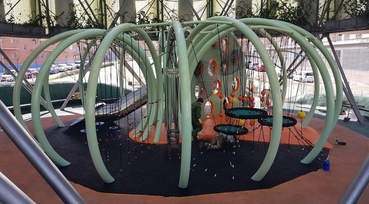 Un innovador parque infantil de 272 metros cuadrados para el Ecobulevar de Vallecas