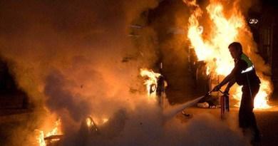 Detendio un hombre acusado de incendiar 13 contenedores y 7 vehículos en Carabanchel y Latina