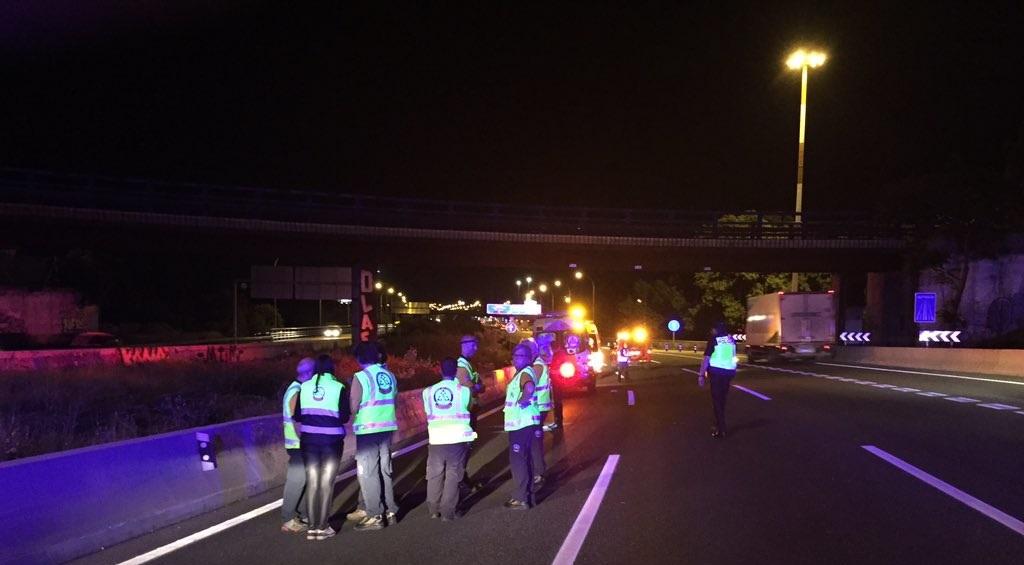 Muere atropellado un joven de 19 años al intentar cruzar la A-2 a su paso por San Blas-Canillejas y Barajas