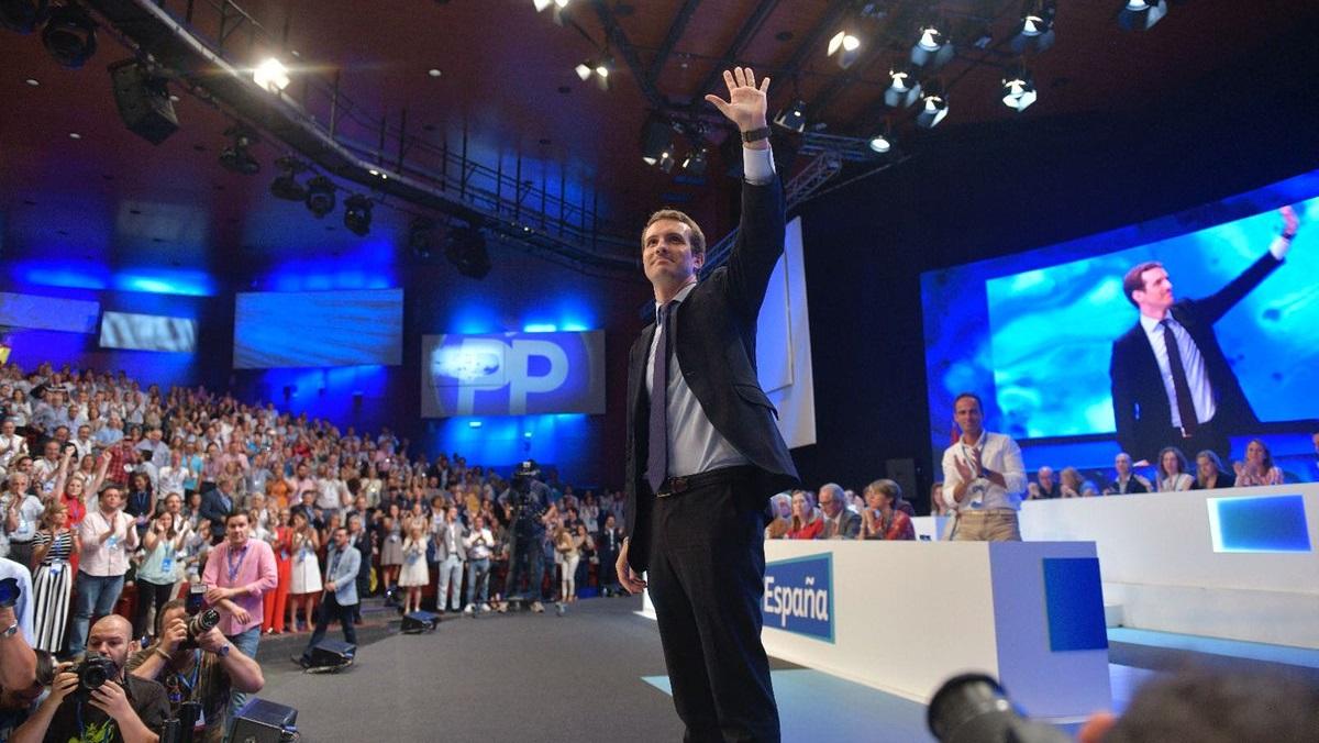 Pablo Casado es elegido nuevo presidente del Partido Popular con el 57,6% de los apoyos