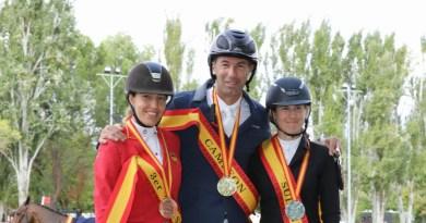 Sara Salom, amazona del Club de Campo Villa de Madrid, bronce en el Campeonato de España Absoluto de Hípica