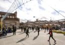 'La cancha', el espacio para el juego al aire libre de la Feria Internacional de las Culturas de Madrid