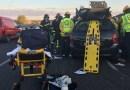 Un hombre de 34 años grave tras colisionar con su turismo contra un camión en Villa de Vallecas