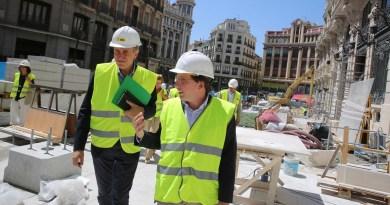 Almeida visita las obras de Canalejas: «es una gran oportunidad de futuro para Madrid»