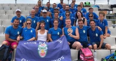 El equipo masculino del CN Cuatro Caminos, tercero del Campeonato de España Master de Verano