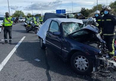 Dos muertos en un accidente múltiple en la M-50 por un posible conductor 'kamikaze'