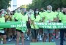 Una gran marea verde llena las calles del centro de Madrid por la VIII Carrera Contra el Cáncer