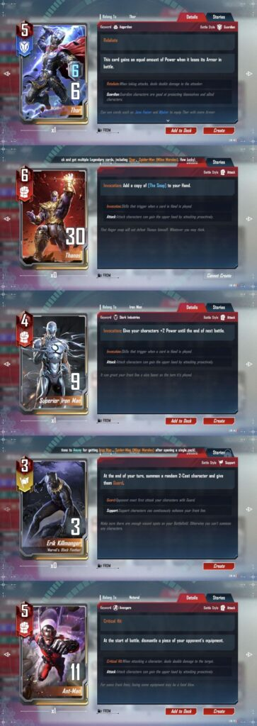 marvel duel guide best cards
