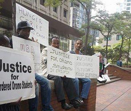 OromoProtestsHungerStrikeSeattle2014
