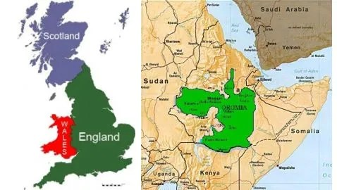 Scotland in the Great Britain, and Oromia in the Ethiopian Empire (Illustration, Not Drawn to Scale)