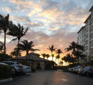 Parking Lot Sunrise at Marriott Ocean Pointe