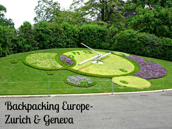 Backpacking Europe-Zurich & Geneva