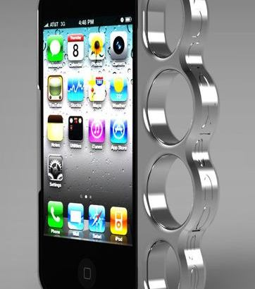 喧嘩上等!メリケンサック装備の最強iPhoneケースです。夜露死苦!